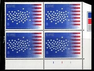 IRELAND 1976  US Bicentenary, 8p Plate Block Of 4, Plate 111 MNH