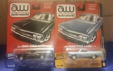 1/64 AUTO WORLD HOBBY EXCLUSIVE 1966 EL CAMINO BOTH COLORS