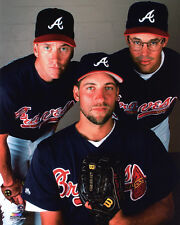Atlanta Braves TOM GLAVINE, GREG MADDUX & JOHN SMOLTZ Glossy 8x10 Photo Poster