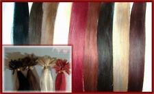 200 Echthaarsträhnen Flachbonding  60cm glatt REMY extensions rot burgund