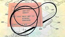 BELT KIT ABK007 FOR HITACHI TRK8080E PORTABLE CASSETTE RECORDER/RADIO