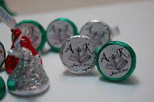 110 Hershey Kiss Personalized WEDDING LABLE Bells Glossy sticker B