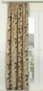 """TAUPE MIX( COFFEE BEIGE BROWN)  LINED  DOOR CURTAIN  66"""" x 90""""  3"""" TAPE"""