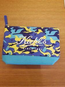 Kiehls Blue Camo Cosmetic Bag