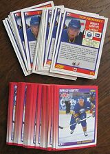 1991-1992 Score #279 Donald Audette (Sabres) Top Prospect (LOT of 70 Cards!)