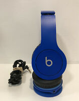 Beats by Dr. Dre Solo HD Wired Headband Headphones - Blue - Works Great