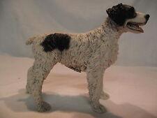Statue de collection CASTAGNA - chien  EPAGNEUL BRETON NOIR ET BLANC