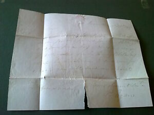 Letter Loughrea Delvin 1847 Ireland Irish Egan Hindes Westmeath stamps Galway