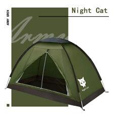 Single Man Tent Backpacking Hiking Camping Sun Shelter Waterproof Army Green