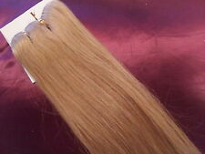 """20""""HUMAN WEAVE 150G DELUX 20 Golden Blonde BEAUTIFUL INDIAN REMY HAIR UK SELLER"""
