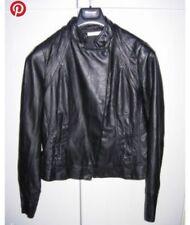 Giubbotto donna in ecopelle nera taglia 44, marca Promod, nuovo senza etichetta