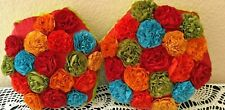 Two Decorative Pillow - Pier One  - Flowers - Multicolored