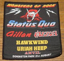 DONNINGTON 1982 STATUS QUO SAXON HAWKWIND ANVIL HEEP CLOTH SEWING SEW ON PATCH