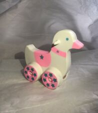 Baby Doll Bear Accessories Toy Duckie On Wheels Doll Riding Toy