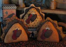 PATTERN Primitive Stumpy Thanksgiving Turkey Dolls Ornies SO CUTE! FREE SHIPPING