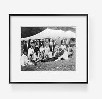 Vintage 1916 Aug. photograph: Group portrait of men and women attending the NAAC