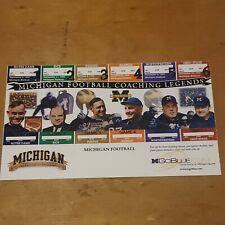 New listing 1999 University of Michigan Football Coaching Legends Season Ticket Sheet U of M