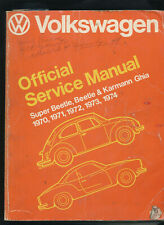 VW Volkswagen Official Service Manual 1970-74 Type 1 Super Beetle Karmann Ghia