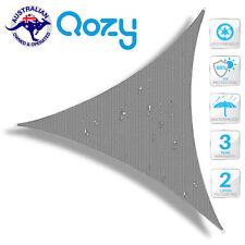 Waterproof Triangle Shade Sail 3X3X3m Grey sun canopy heavy duty patio garden