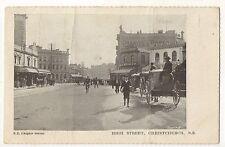 High Street CHRISTCHURCH NZ - Vintage UDB New ZealandPostcard