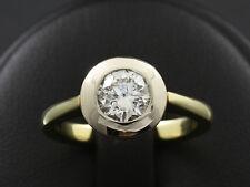 Solitär Brillant Ring 0,89ct(Gravur) Verlobungsring Vorsteckring   585/- GG/WG