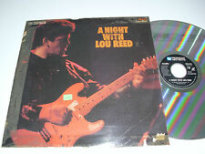 LOU REED A Night with Lou Reed - Laser Disc - US LD