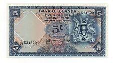 UGANDA 5 SHILLINGS 1966 PICK 1 UNC