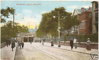 NEWPORT ROAD, CARDIFF. Glamorgan Wales Antique Edwardian Welsh Postcard 1907