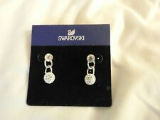Authentic SWAROVSKI Silver Tone Drop Dangle Earrings