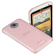 Back Cover Case Superslim trsp pink f HTC One X / One XL Tasche Hauchdünn