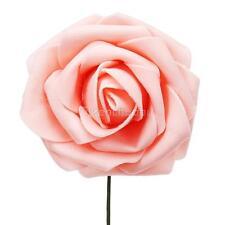 50/100 Artificial Foam Rose Flowers Heads Wedding Bride Bouquet Party Decoration