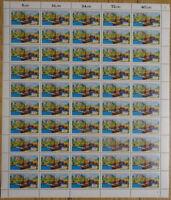 50 x Bund 1223 postfrisch Bogen Formnummer 2 FN BRD Schleuse Knoop 1984 MNH