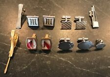 Lot of Vintage Cufflinks, Tie Bars, Tack Anson Fishing, SWANK, Simmons Sterling
