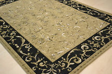120x170cm Fine Tapestry Style Polyester Pale Beige Gold Traditional Floral Rugs