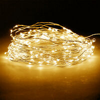 5M Warm White Battery Powered Copper Clear Wire Fairy Light Waterproof Xmas Tree