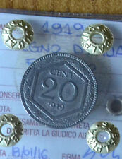 REGNO D' ITALIA ESAGONO 20 CENT 1919 sigillata qSPL SUBALPINA