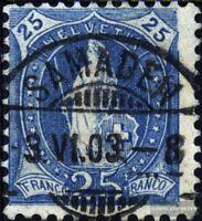 Schweiz 67 gestempelt 1899 stehende Helvetia