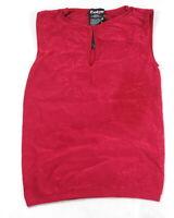 New Bebe Womens Seamless Lace Textured Keyhole Neck Sleeveless Tank Top M/L $34