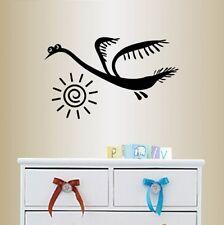 Vinyl Decal Cartoon Funny Bird Peacock Sun Kids Nursery Room Wall Sticker 2392
