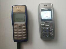 Two Vintage NOKIA Phones : 1100B TYPE:RH-36 Blue/Silver & RH-65 Grey. Both work