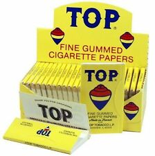 AUTHENTIC Top Fine Gummed Cigarette Rolling Papers 6 Booklets (600 leaves)