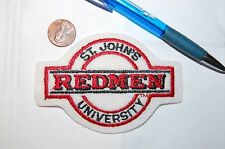 """St. Johns Red Storm Redmen 3 7/8"""" Banner Patch College"""