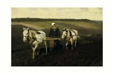 More details for ilya repin - leo tolstoy ploughing 1887 print 61x91.5cm