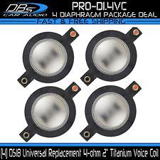 """4 DS18 PRO-D1.4VC 2"""" Voice Coil 4 ohm Replacement Diaphragm for PRO-D1, PRO-DKH1"""