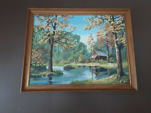 """Vtg. Paint By Number , GIANT Size 31"""" X 40"""" Framed , American History Museum Art"""