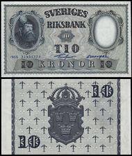 Suecia 10 CORONAS (P43d) 1956 UNC