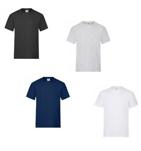 Pack Of 5 Fruit of the Loom Mens Heavy Cotton T-Shirt Adult Plain Casual Tee Top