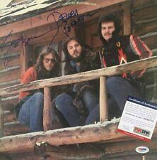 AMERICA Signed HIDEAWAY Vinyl RECORD Album Dewey Bunnell GERRY BECKLEY PSA DNA