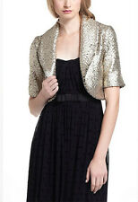NWT Anthropologie Elevenses Pebbled Foiled Cropped Jacket S
