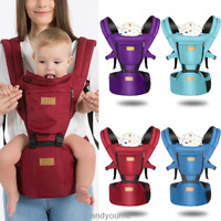 Newborn Baby Carrier Sling Wrap Backpack Front Back Chest Breathable Adjustable